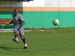Pereira participou do treino dessa sexta