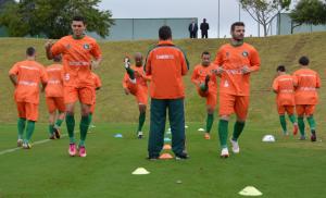 Jessé (esquerda) marcou um dos gols da vitória por 2x1 Foto: Rafael Nunes/CFC