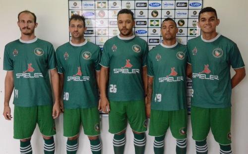Gesiel, Rodrigo Rocha, Cadu, Quilder e Jessé se apresentaram no Robertão Foto: Rafael Nunes/CFC
